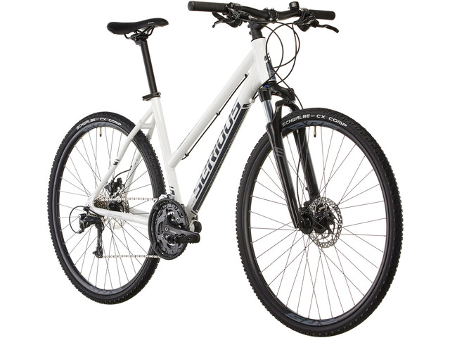 Serious Sonoran Hybridcykel Damer hvid | City-cykler